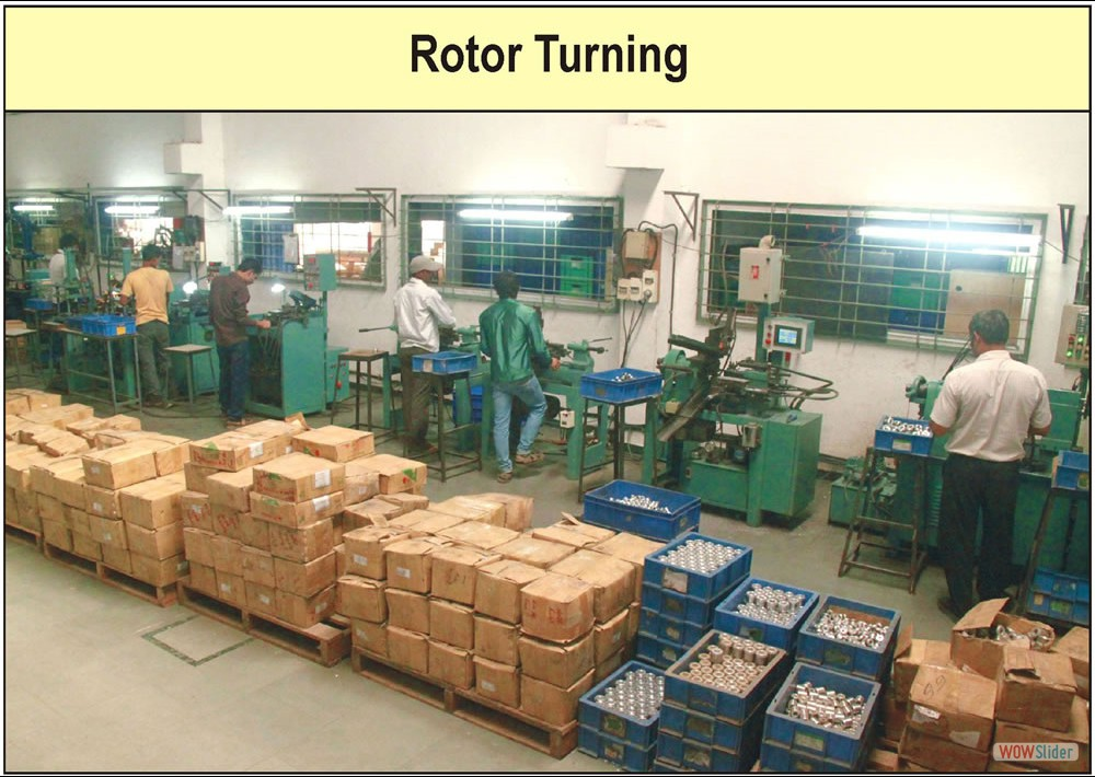 Rotor Turning Factory Photograph