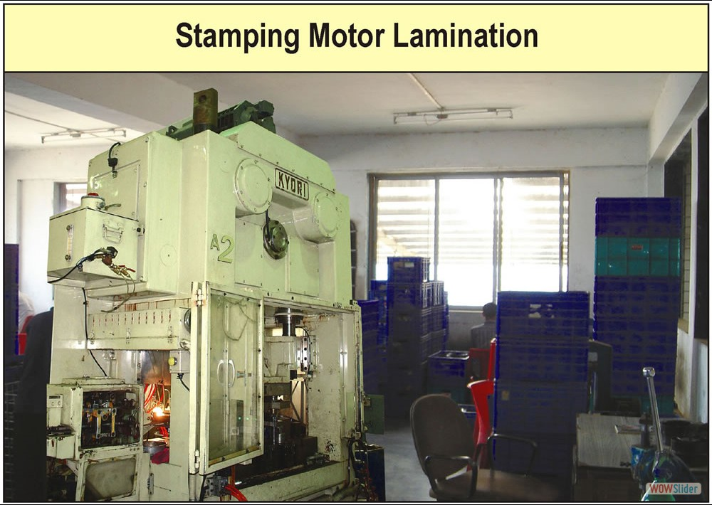 Stamping Mototr Lamination Factory Photograph