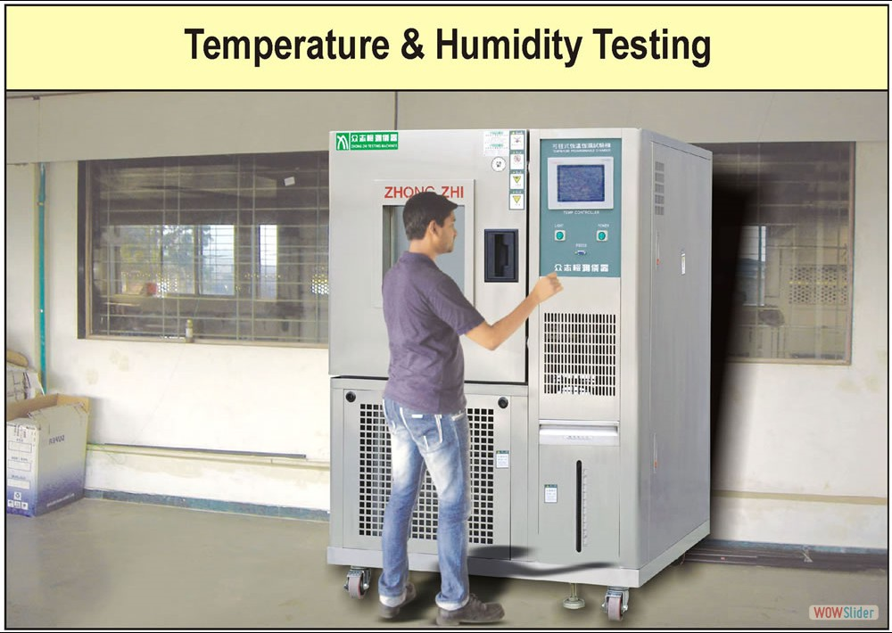 Temperature & Humidity Testing Factory Photograph